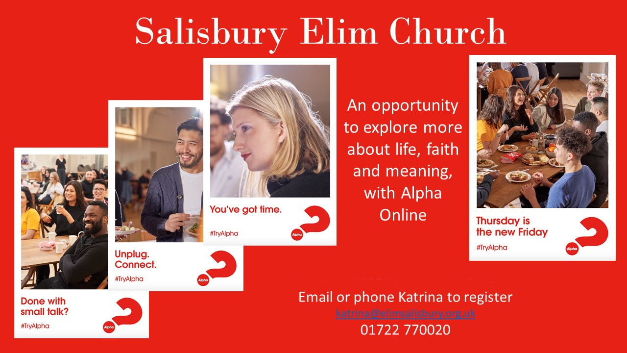 Find out what Christianity is all about and how it can change your life. Coming soon to Salisbury Elim Church.